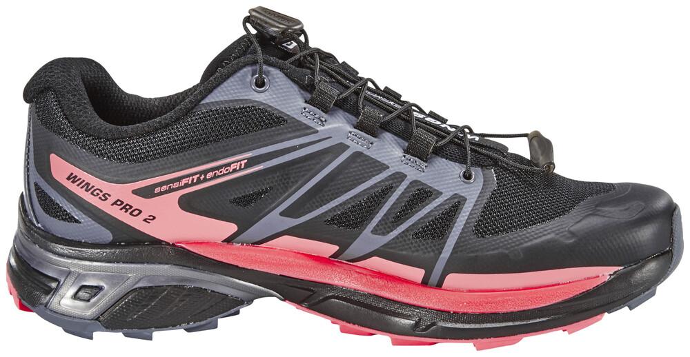 Salomon Wings Pro 2 Trailrunning Shoes Women black/dark cloud/madder pink 40 2016 Trail Running Schuhe EMEFqND80